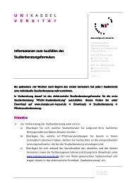 Informationen zur Studienberatung, Studienbeginn WS 12 (pdf)