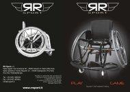 Brochure carrozzine sportive PLAY e GAME - RR Sport