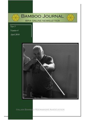 Italian Bamboo Rodmakers Association Year 3 Number 4 April 2010