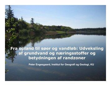 Fra opland til søer og vandløb: Udveksling af grundvand og ...