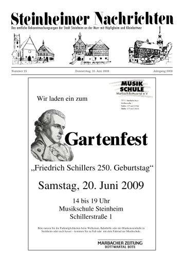Gartenfest - Stadt Steinheim an der Murr