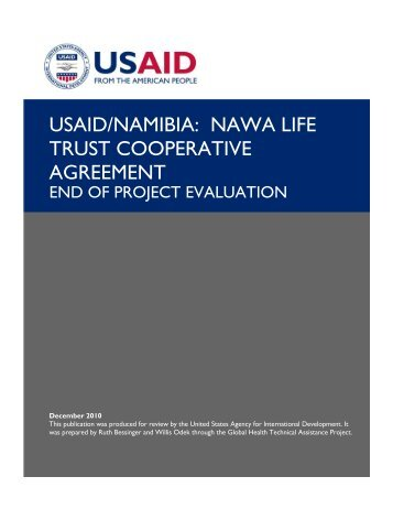 usaid/namibia: nawa life trust cooperative agreement - GH Tech