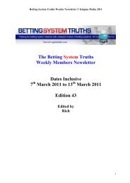 Sports Bet Gold - Betting System Truths