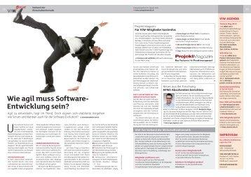 Wie agil muss Software Entwicklung sein? - VIW - Verband der ...