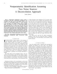 Nonparametric Identification Assuming Two Noise ... - IEEE Xplore