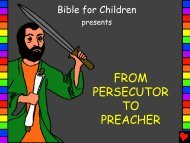 From Persecutor to Preacher English - Bible for Children