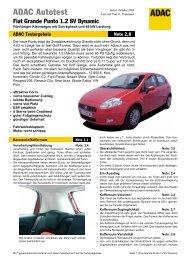 Fiat Grande Punto 1.2 8V Dynamic - ADAC