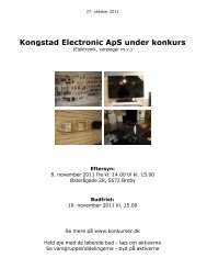 Kongstad Electronic ApS under konkurs - konkurser.dk