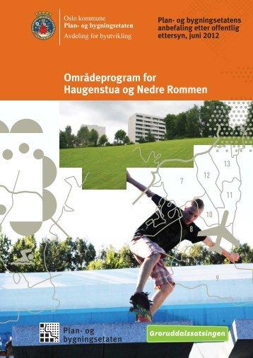 Områdeprogram for Haugenstua og nedre Rommen er ... - Plan