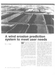 A wind erosion prediction system to meet user needs - USDA-ARS ...