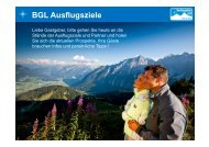 BGL Ausflugsziele - Extranet der Berchtesgadener Land
