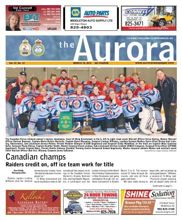 Mar 19 2012 - The Aurora Newspaper