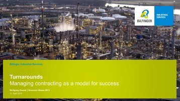 Managing Contracting Model - Bilfinger
