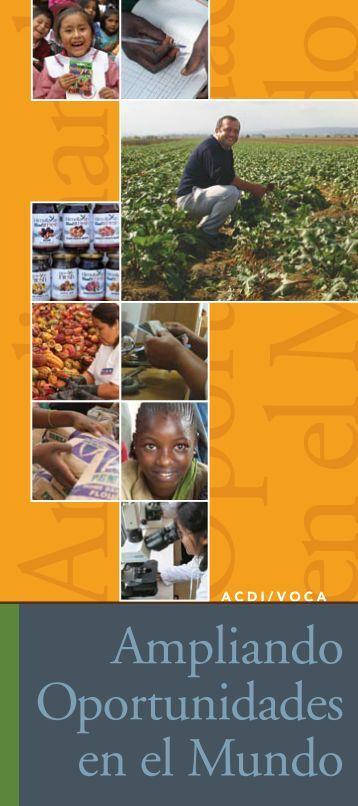 Ampliando Oportunidades en el Mundo - ACDI/VOCA
