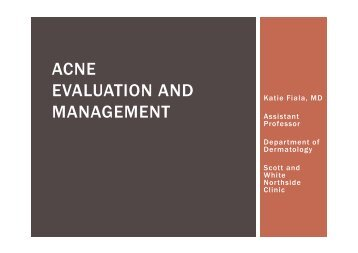 Evaluation and Management of Acne - Healthcare Professionals