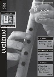 Continuo 1-2002 - music-a-vera Musik erleben und verstehen