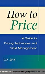 How to Price - Network Economics and Services Group