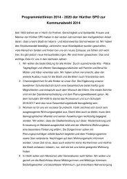 Leitlinien zur Kommunalwahl - SPD Ortsverein Hürth