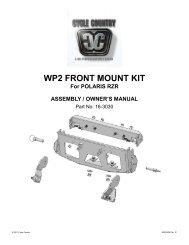 owners manual cc16-3030 - front mount kit pol - Schuurman B.V.