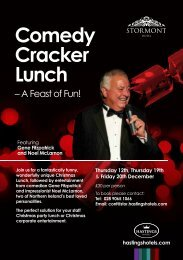 Comedy Cracker Lunch - Hastings Hotels