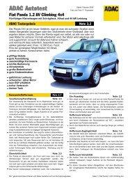 Fiat Panda 1.2 8V Climbing 4x4 - ADAC