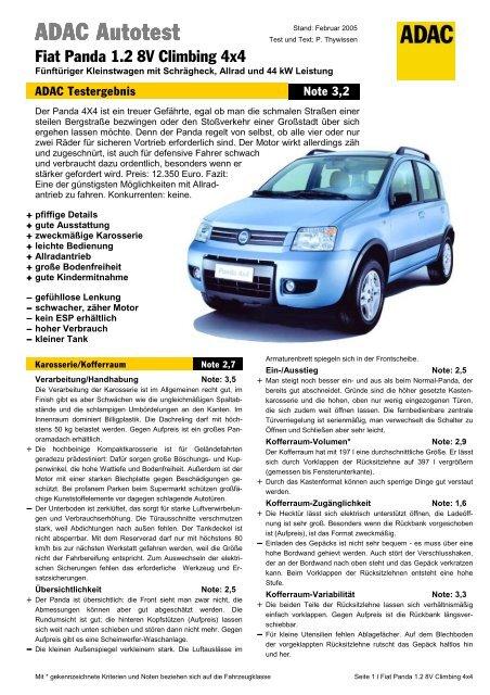 Fiat Panda 12 8v Climbing 4x4 Adac