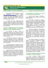 Edição nº 4 - Julho a Dezembro de 2009 - Portal da Transparência ...