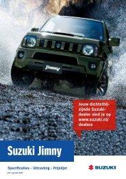 Suzuki Jimny specificatie prijslijst