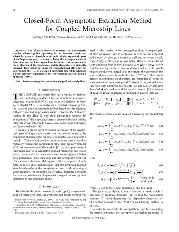 Closed-Form Asymptotic Extraction Method for ... - IEEE Xplore