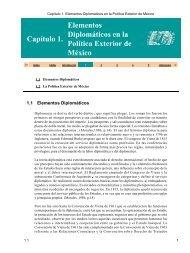 Capítulo€1.€Elementos Diplomáticos en la Política Exterior de México