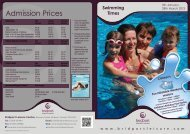 Admission Prices - Bridport Leisure