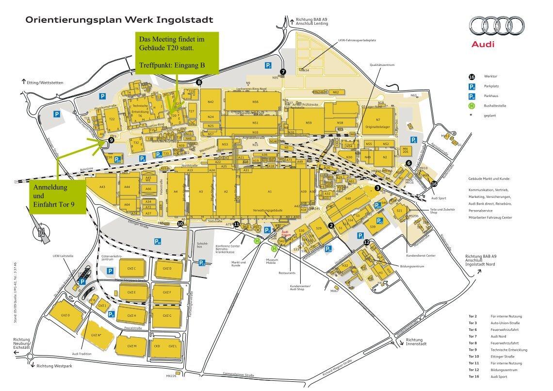 Audi Ingolstadt Werksplan Auto Bild Idee