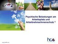 Psychische Belastungen am Arbeitsplatz - Health Care ...