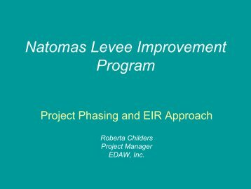 Project Phasing and EIR Approach - Roberta Childers ... - SAFCA