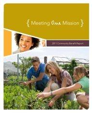 Download the 2011 Community Benefit Report - ProMedica