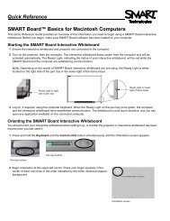 SMART Board Basics - Smarttech - SMART Technologies Inc.