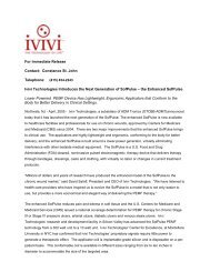 Ivivi Technologies Introduces the Next Generation of SofPulse