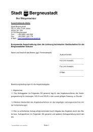 Ausschreibung technische Geräte Schulen - Stadt Bergneustadt