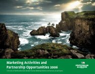 Marketing Activities and Partnership Opportunities 2006 - Tourism ...