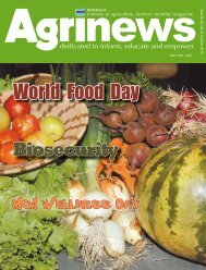 World Food Day - Ministry of Agriculture