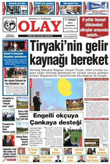 Tiryaki'nin gelir kayna¤› bereket - Olay Gazetesi