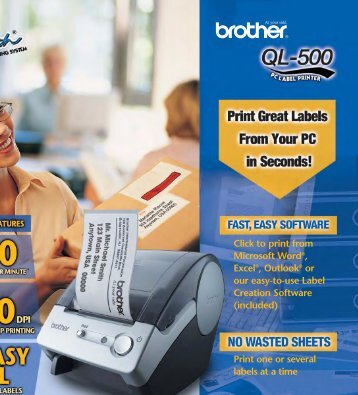 Introducing the BROTHER QL-500 PC Label Printer. The ... - Datecsa