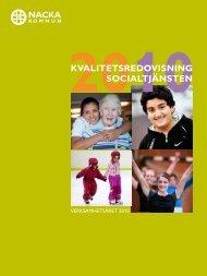 KVALITETSREDOVISNING SOCIALTJÄNSTEN - Nacka kommun