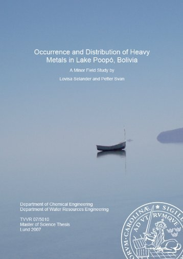 Occurrence and Distribution of Heavy