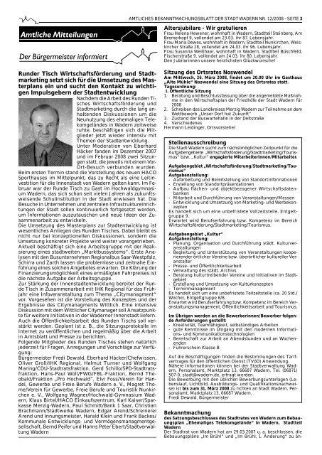 Amtsblatt wadern