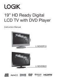 """19"""" HD Ready Digital LCD TV with DVD Player - KnowHow"""