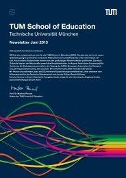 Newsletter Juni 2013 - TUM School of Education - Technische ...