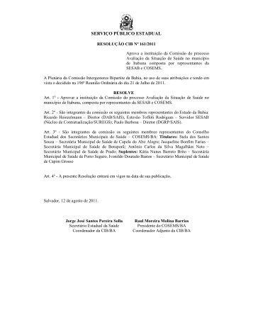 Resoluções CIB de 161 a 359.pdf - Sesab - Governo da Bahia