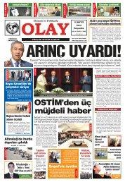 OSTİ'den üç müjdeli haber - Olay Gazetesi