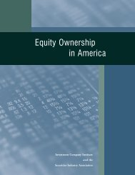 Equity Ownership in America (pdf) - Investment Company Institute